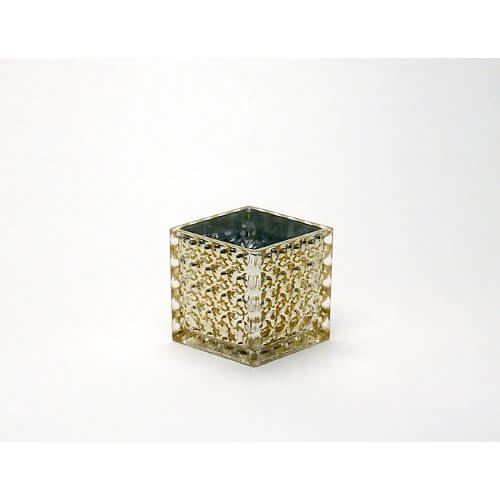 Cube candle holder for Long rectangular candle tray