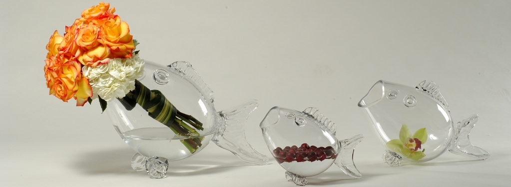 Bubble Bowl Glass Vases